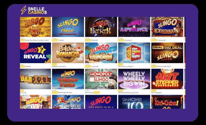 Pronto Casino Slingo Games