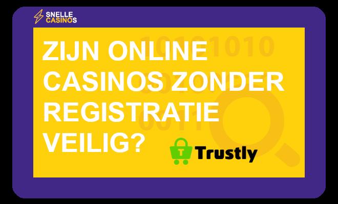 Zijn online casino's zonder registratie veilig?