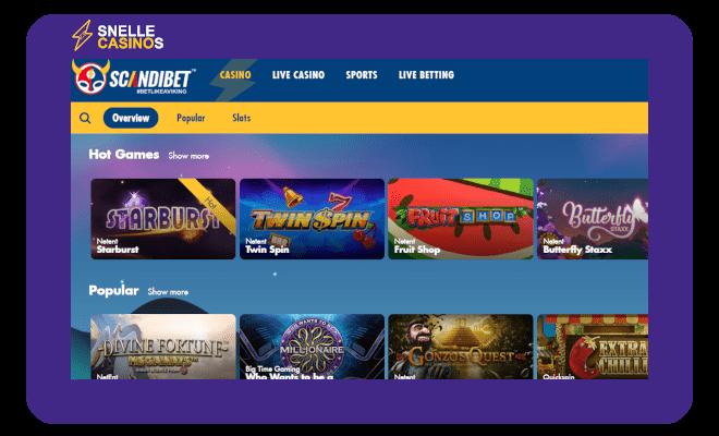 Scandibet casino lobby