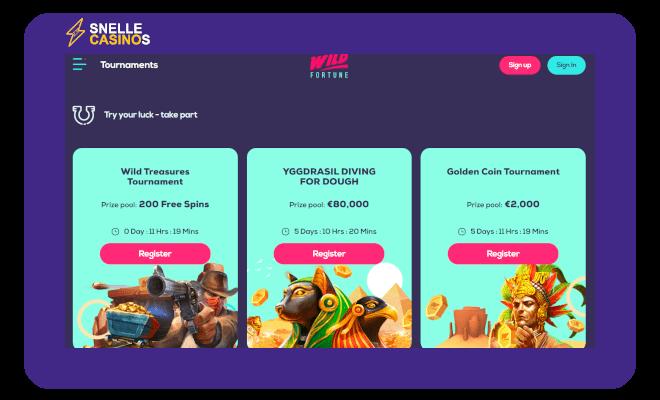 Wild Fortune Casino toernooien