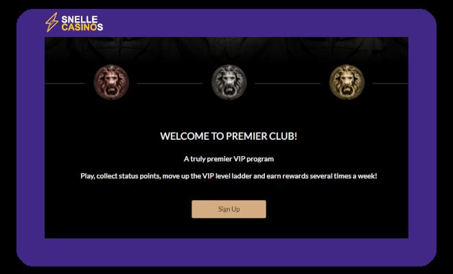 Premier Casino VIP Systeem