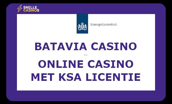Batavia Casino online casino met KSA licentie